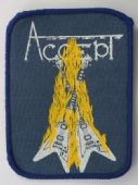 Accept - 'Restless and Wild - Blue' Printed Patch